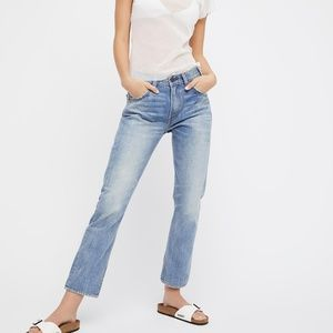 Free People x Levis 505 Straight Leg Jeans
